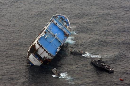 """Superferry 9"" yolcu gemisinin batışı 1"