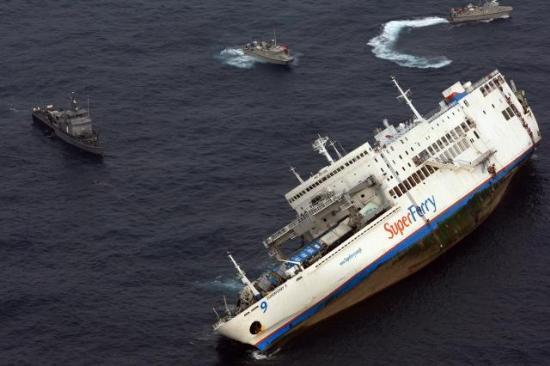"""Superferry 9"" yolcu gemisinin batışı 3"
