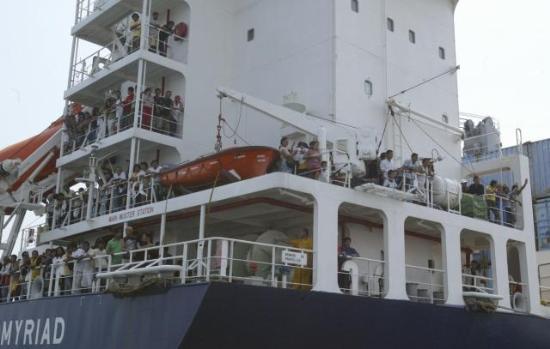 """Superferry 9"" yolcu gemisinin batışı 8"