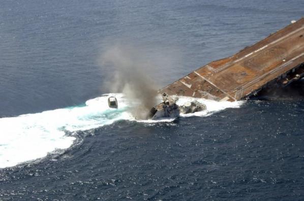 Amerikan Savaş Gemisi Böyle Battı 10