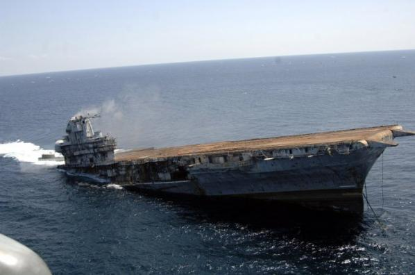 Amerikan Savaş Gemisi Böyle Battı 6