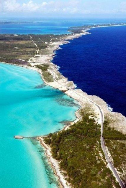 Okyanusu 3 renge ayıran Eleuthera adası 2