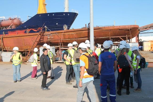 Belçikalı gemi inşa öğrencileri Özata Tersanesi'ni ziyaret etti 13