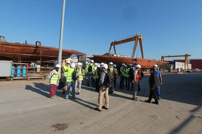 Belçikalı gemi inşa öğrencileri Özata Tersanesi'ni ziyaret etti 14