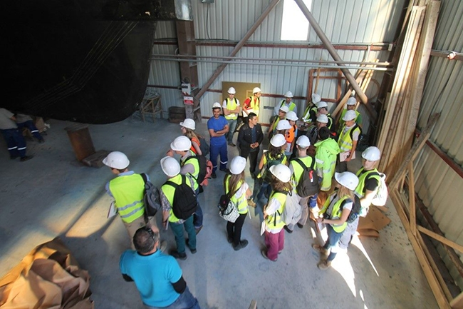 Belçikalı gemi inşa öğrencileri Özata Tersanesi'ni ziyaret etti 5
