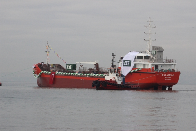 M/T Kalamış-E denize indirildi 12