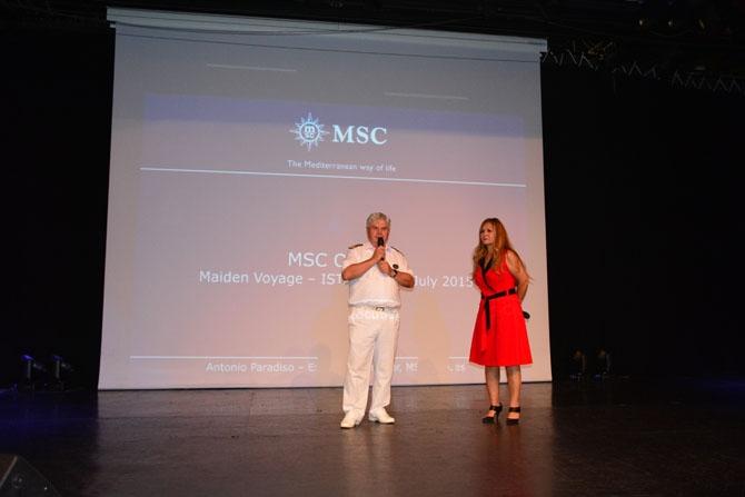 Rönesans programı kapsamında büyütülen MSC Opera İstanbul'a demir attı 13