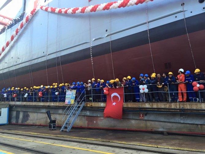 TCG Bayraktar denize indi 7