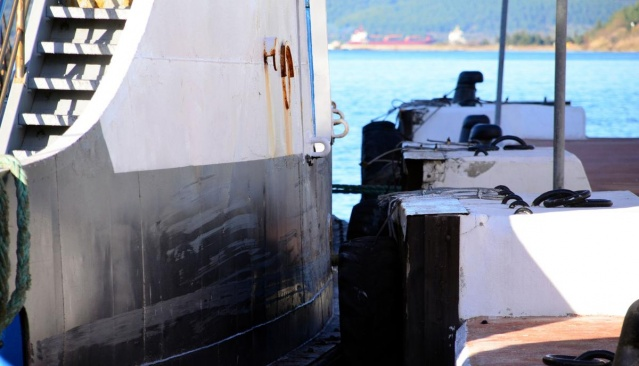 Çanakkale'de araba vapuru iskeleye çarptı 5