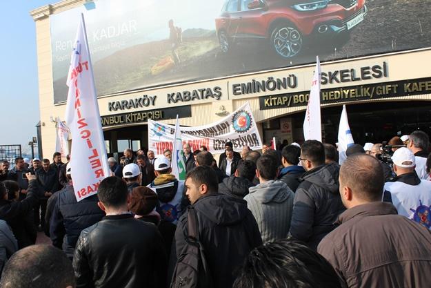 Türkiye Denizciler Sendikası basın açıklaması 14