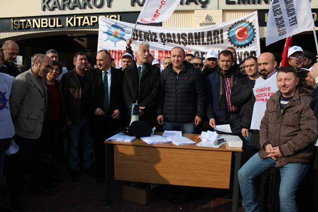 Türkiye Denizciler Sendikası basın açıklaması 17