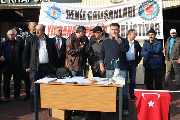 Türkiye Denizciler Sendikası basın açıklaması 4