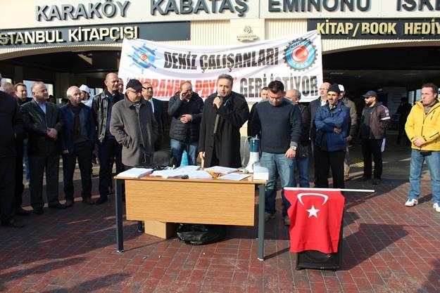 Türkiye Denizciler Sendikası basın açıklaması 5