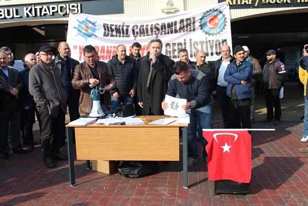 Türkiye Denizciler Sendikası basın açıklaması 6