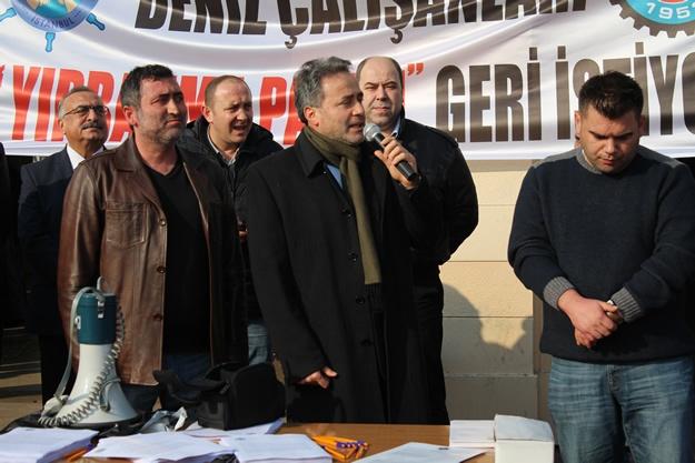 Türkiye Denizciler Sendikası basın açıklaması 8