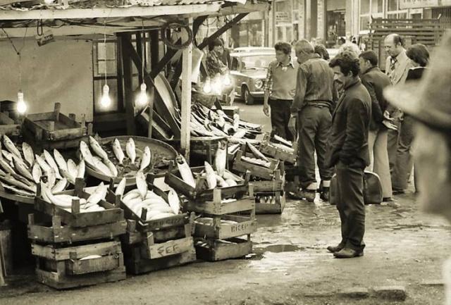 Balık dolu siyah beyaz İstanbul 17