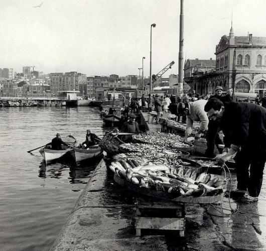 Balık dolu siyah beyaz İstanbul 29