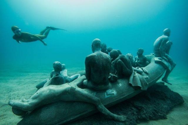 Dünyanın en anlamlı su altı müzesi mültecileri anlatıyor 1