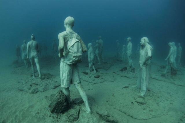 Dünyanın en anlamlı su altı müzesi mültecileri anlatıyor 10