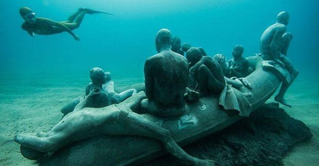 Dünyanın en anlamlı su altı müzesi mültecileri anlatıyor 17