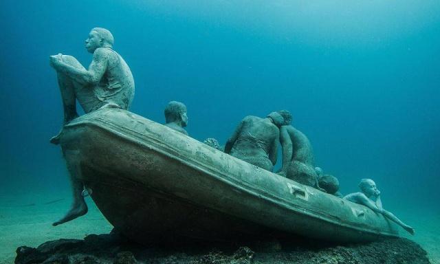Dünyanın en anlamlı su altı müzesi mültecileri anlatıyor 3
