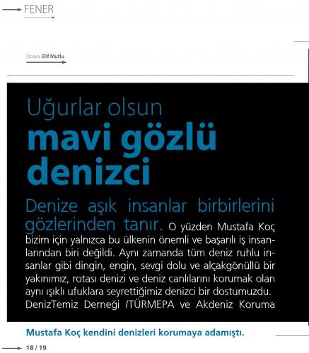 Mavi gözlü denizci Mustafa Koç, VİRA sayfalarına kazındı 1