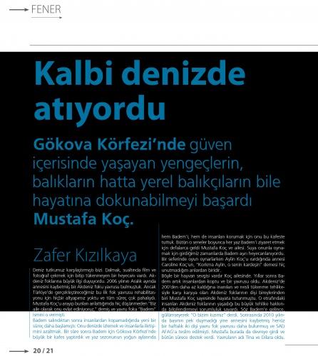 Mavi gözlü denizci Mustafa Koç, VİRA sayfalarına kazındı 3