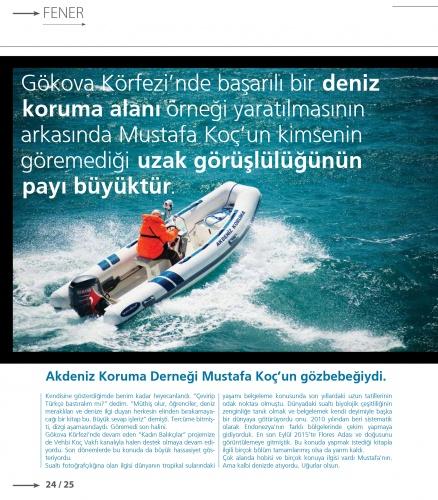 Mavi gözlü denizci Mustafa Koç, VİRA sayfalarına kazındı 7