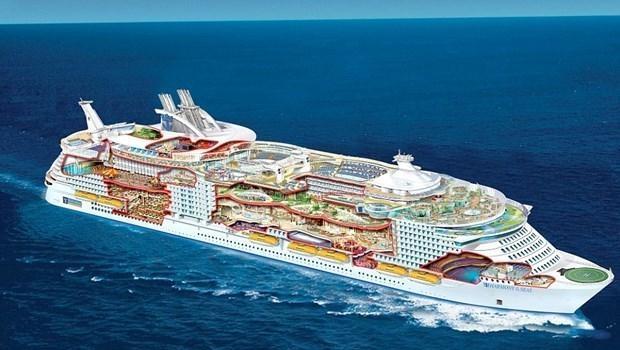Dünyanın en büyük gemisi suya iniyor 8