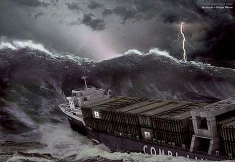 Denizin neredeyse gemileri yuttuğu fırtınalar 14