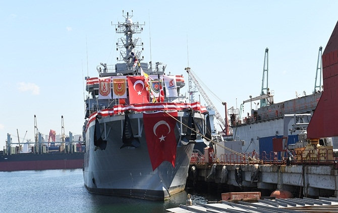 A-583 TCG Işın Türk Deniz Kuvvetleri'ne teslim edildi 1