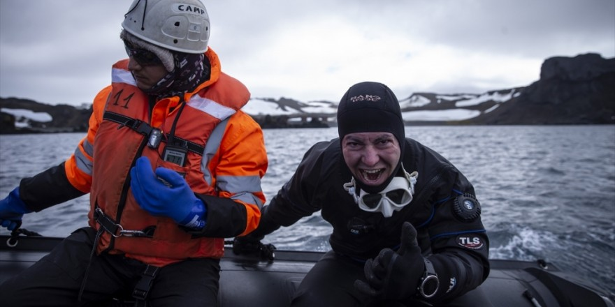 Şahika Ercümen'den Antarktika'da tarihi dalış