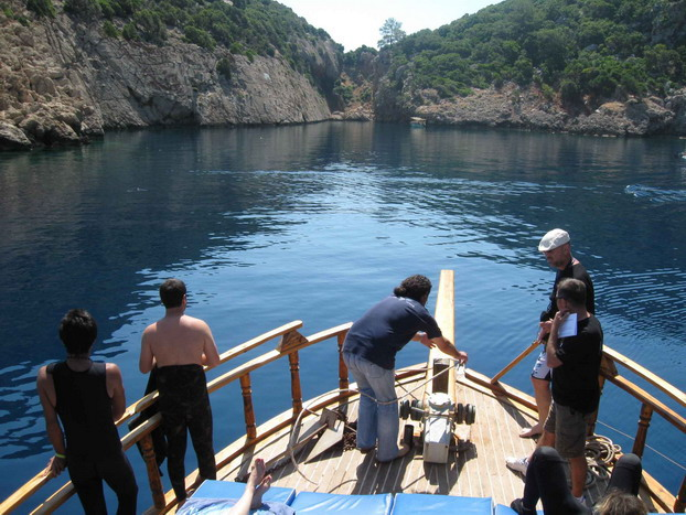 Korsan limanında arkeoloji ve doğal güzellik görüntülendi 2
