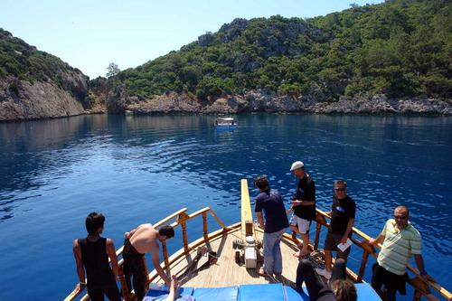 Korsan limanında arkeoloji ve doğal güzellik görüntülendi 5