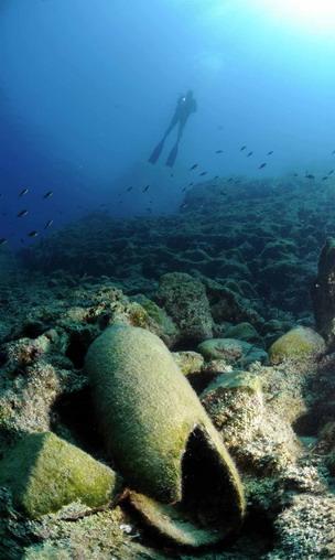 Korsan limanında arkeoloji ve doğal güzellik görüntülendi 9