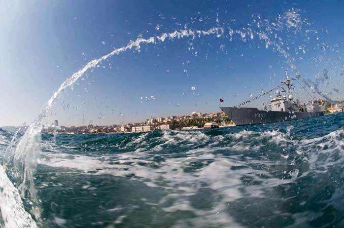 'Balık gözünden' İstanbul Boğazı 22