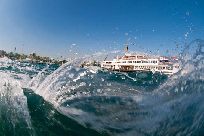 'Balık gözünden' İstanbul Boğazı 24