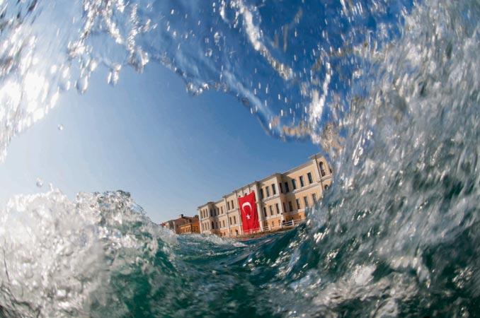 'Balık gözünden' İstanbul Boğazı 8