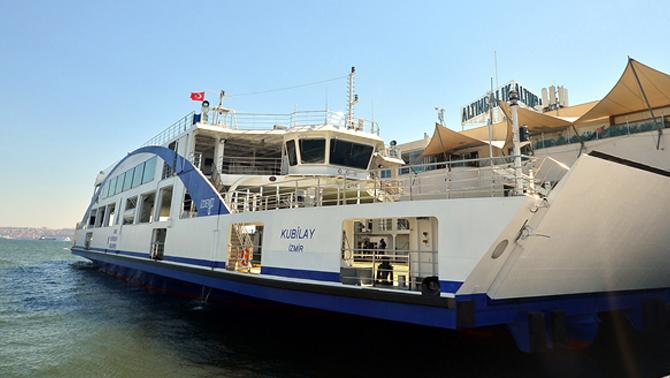 İzmir'in üçüncü arabalı vapuru M/F Kubilay filoya katıldı