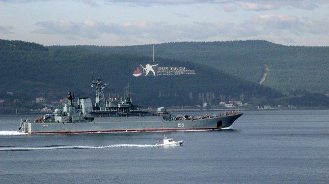 Rus gemisi Çanakkkale Boğazı'ndan geçti