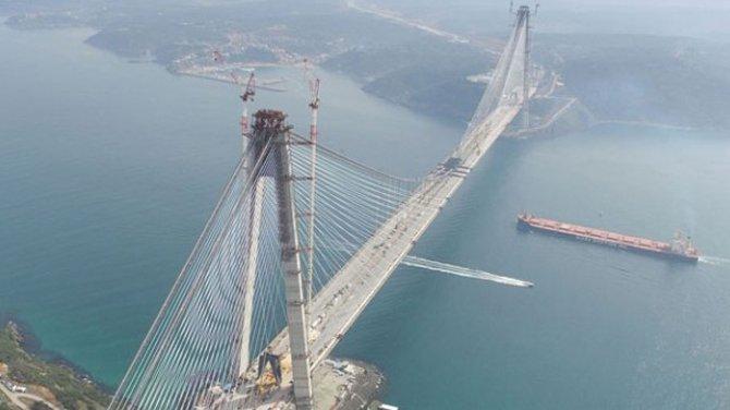 Yavuz Sultan Selim Köprüsü'nün kuleleri son halini aldı