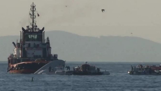 Sahil Güvenlik botu Sarayburnu açıklarında alabora oldu