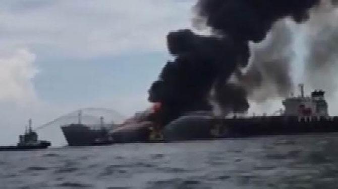 Meksika'da Körfezi'nde tankerde patlama