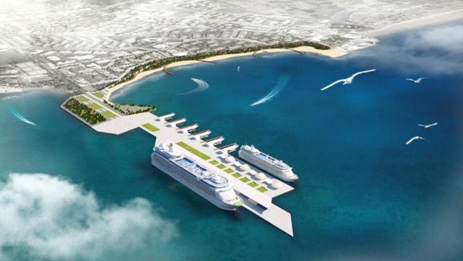 Antalya'da kruvaziyer limanı çalışmalarına başlandı