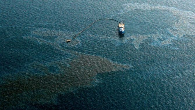 Oil Spills from Barge off Finland's Coast