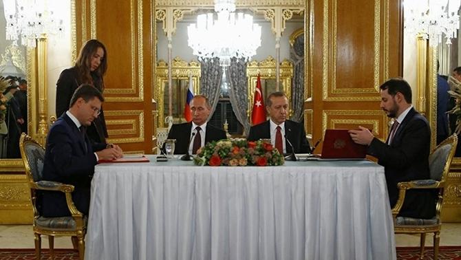 Rusya ile Türk Akımı Projesi imzalandı