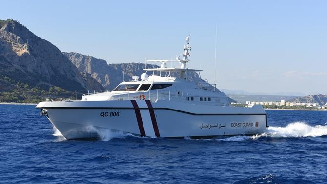 Sahil Güvenlik devriye botları Katar'a teslim edildi