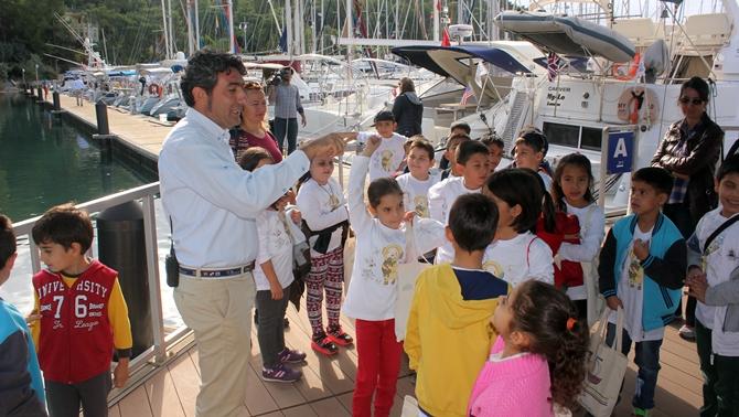 """""""Marina Eğitimleri"""" projesiyle çocuklar denizi öğreniyor"""