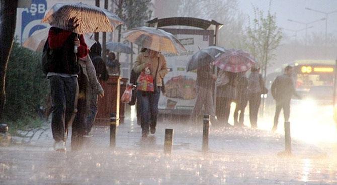 Meteoroloji'den üç il için kuvvetli yağış uyarısı