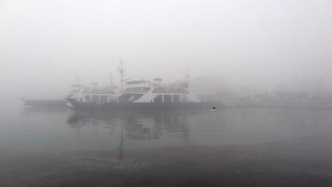 Çanakkale Boğazı yoğun sis nedeniyle trafiğe kapandı